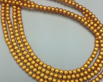 94 - Golden Miracle Beads - 4mm