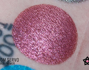 "Red eyeshadow - ""Servo"" - Shimmer eyeshadow - Gitter Eyeshadow - MST3K eyeshadow - Mineral eyeshadow - Vegan eyeshadow - loose eyeshadow"