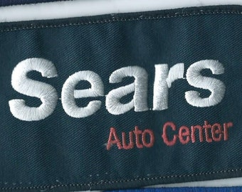 Sears auto store employee patch 2-1/2 X 4-1/2