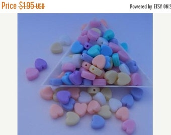 Summer Clearance Pastel Heart Beads