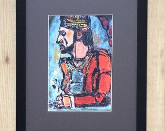 "Framed and Mounted The Old king Print by Georges Rouault 16"" x 12"""