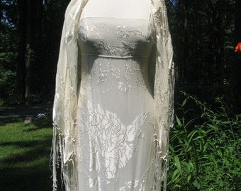 Beautiful Silk Sue Wong Gown with Matching Shawl