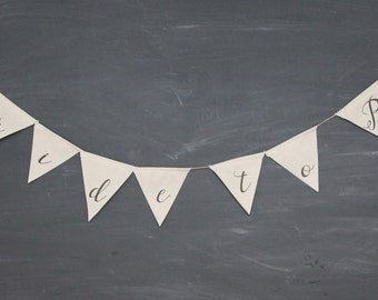 Bride to Be Fabric Banner
