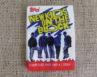 1989 Topps New Kids On the Block Photo Trading Cards, Vintage Topps Photo Cards, New Kids on the Block Memorabilia, New Kids on the Block
