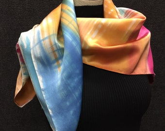 Hatchwork - Hand Painted Silk Scarf