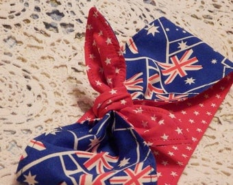 Rockabilly Headscarf - Aussie pride!
