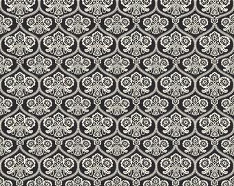 Riley Blake Designs - Haunting Damask Black - C4671-BLACK