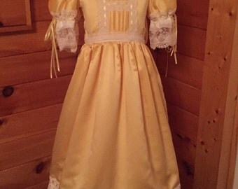 Yellow heirloom pageant dress