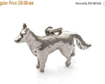 ON SALE Sterling Silver Dog Bracelet Charm Canine Pendant
