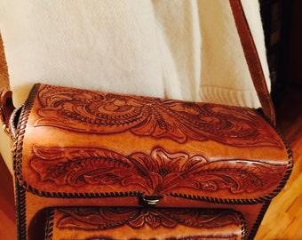 Hand Tooled Oaxaca Urban Cowboy Western Country Camera Carry Case Shoulder Handbag