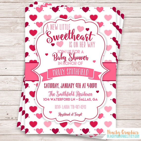 Printable Little Sweetheart Baby Shower Invitation