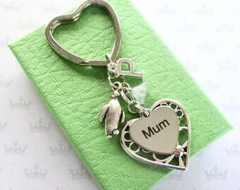 Penguin keyring - Mum Birthday gift - Mum keyring - Mother's Day gift - Penguin keychain - Personalised Mum gift - Gift for mum - UK seller