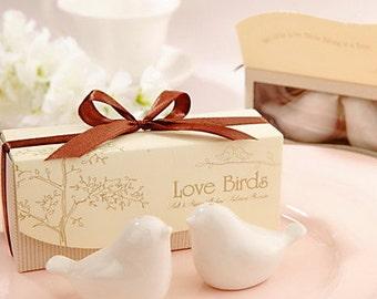 Love Birds Ceramic Salt And Pepper Shakers Wedding Favor