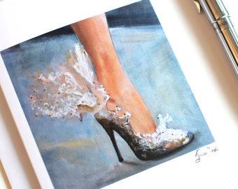 Lace shoes greeting card