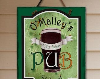 Personalized Old Irish Pub Slate Plaque