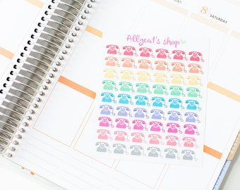 Telephone Stickers - Planner Stickers