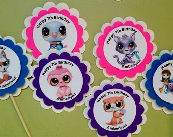 Littlest Pet Shop Cupcake Toppers Birthday Party Baby Shower