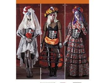 Simplicity 1033 H5 Dia De Los Muertos Costume Sewing Patterns