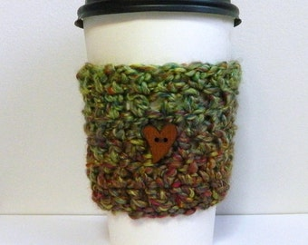 Coffee Cup Sleeve Cozy Take Out Coffee Cup Sleeve Green Coffee Cup Sleeve Cozy Green Take Out Cup Sleeve Take Out Cup Cozy