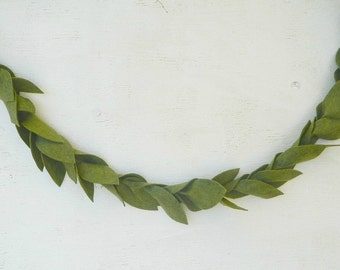 GREENERY|| Felt Leaf Garland