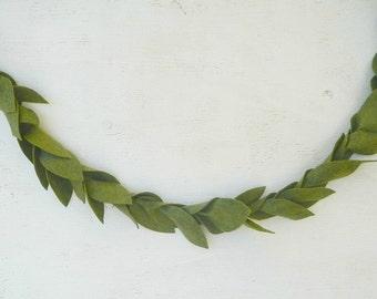 GREENERY|| Felt Leaf Garland