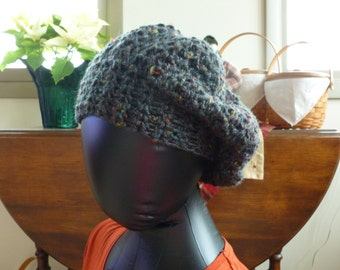 Crocheted Slouch Beanie Hat