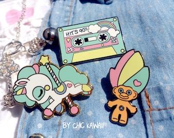 Pin Unicorn, Troll and cassette pins lot