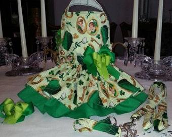 St Patricks Dog Harness. Dress