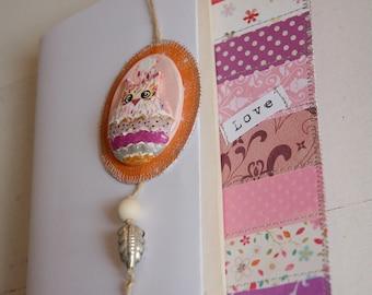 Bookmark pink OWL totem - customizable