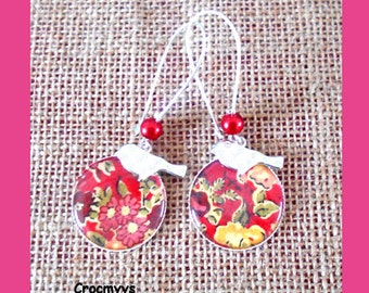 Earring liberty tatum red