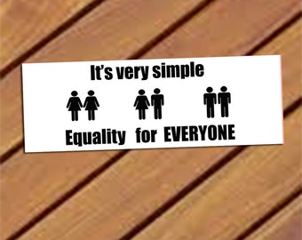Equality for everyone Bookmark