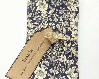 Mens pocket square navy blue, floral pocket square, navy blue pocket square, cotton pocket square