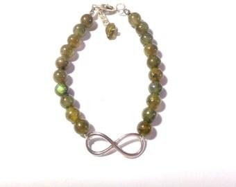 Infinite bracelet of Labradorite