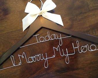 Military bride hanger, Bride hanger, Wedding hanger, Wedding dress hanger, Name hanger ,Bridesmaid Hanger, Personalized hanger, Bridal gift
