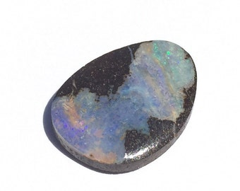 Solid Boulder Opal 6.32ct., Australian, Opal, Play of Color