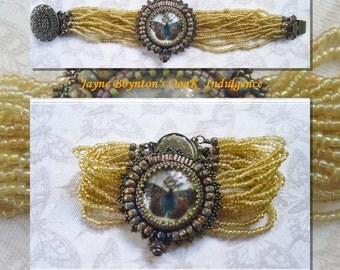 BoheMoth Art Nouveau style bracelet - one only