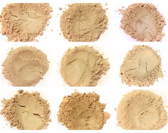 Mineral Foundation Samples TESTER BAGGIES SET - Pure Mineral Makeup Face Foundation Loose Powder Samples