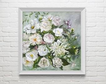 "Fine Art Print of Original Flower Oil Painting // ""Lush"""