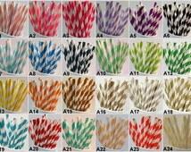 CHOOSE YOUR COLORS Paper Straws -Party Paper Straws-Wedding Decor-Mason Jar Straws-Gold Striped Straws-Wholesale Straws-Birthday Decorations