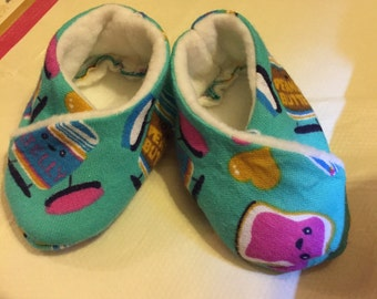 Handmade newborn slippers