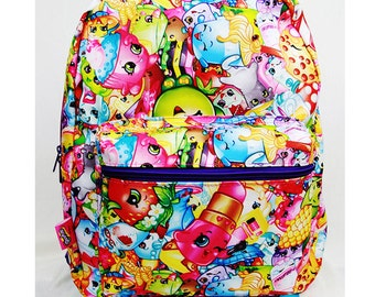 Shopkins (#SY27942) or Nintendo Super Mario (#SD27865) Large 16 inch Backpack
