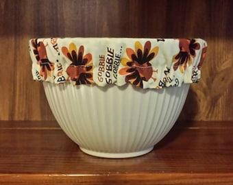 Thanksgiving Gobble til you wobble reusable bowl covers set of 3