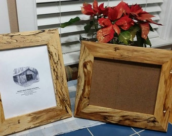 Unusual Rare Reclaimed American Elm  8x10 Picture Frames, Reclaimed Wood Frame