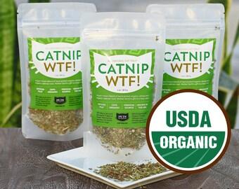 Catnip WTF! - 100% ORGANIC Catnip Blend - USA Grown - 1oz - Catnip for Cats and Kittens