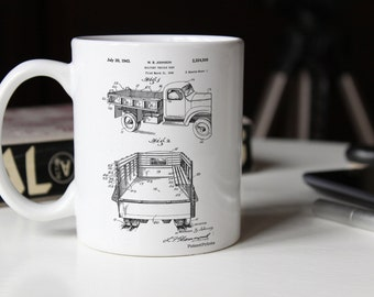 Army Troops Transport Truck Patent Mug, Vintage Army, World War 2, Army Decor, Military Gift, PP0059