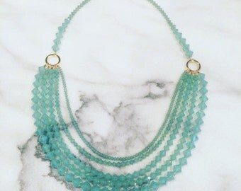 Opal Green Swarovski Necklace