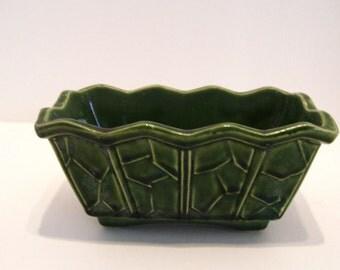 McCoy Pottery Planter Green Mid Century MCM
