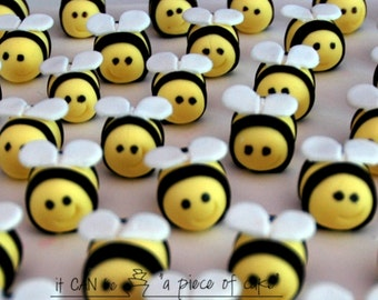 edible fondant bumble bees cupcake topper cake decorations