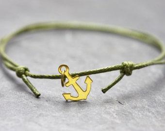 Anchor bracelet minimal vegan Freundschaftsamband