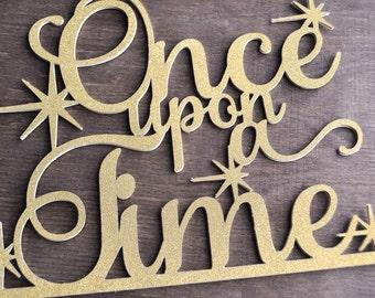 Once Upon A Time-Cake Topper, Princess, Royal